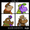 Cartoon: Gorillaz. Good old days (small) by Munguia tagged damon,days,gorillaz,donkey,kong,the,great,grape,ape,magila,gorilla,tracy,other,ghost,busters