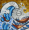 Cartoon: Hola (small) by Munguia tagged big,wave,kanagawa,ola,gran,hokusai,japon,print