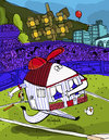 Cartoon: Home Run (small) by Munguia tagged baseball,ball,home,house,sports