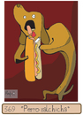 Cartoon: Hot dog (small) by Munguia tagged dogs,hot,dog,cronos,goya,munguia,salchicha
