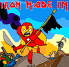 Cartoon: Iron Made in... (small) by Munguia tagged iron,man,maiden,the,trooper,cover,album,parody,parodies,war,kill,robot,mecha,mechanical,comic,marvel