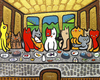 Cartoon: kittten diner (small) by Munguia tagged cats kitty pussy last supper da vinci leonardo food animals