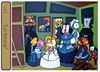Cartoon: Las Mininas (small) by Munguia tagged famous paintings parodies munguia cats parody comic