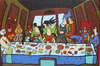 Cartoon: last supper hero (small) by Munguia tagged da,vinci,leonardo,last,supper,ultima,cena,santa,super,heroes,batman,superman,goky,dragon,ball,spiderman,wonderwoman,thundercats,aquaman,chapulin,colorado,el,santo,he,man,flash,linterna,verde,green,wolverine,xmen