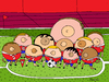 Cartoon: mamas (small) by Munguia tagged soccer,futbol,sports,munguia,costa,rica,world,cup,tv,television,broadcast,cable,bubies,bubys,tetas,breast,woman,women