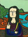 Cartoon: Monalisa giving the finger (small) by Munguia tagged mona,lisa,gioconda,da,vinci,leonardo,munguia,finger,nasty,rude