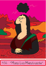 Cartoon: Monalisa Menstruante (small) by Munguia tagged mona,lisa,gioconda,da,vinci,leonardo,munguia,finger,nasty,rude,blood,period,menstruation