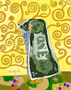 Cartoon: Money love (small) by Munguia tagged tree,of,life,klimt,hug,abrazo,arbol,de,la,vida,gustav,bill,dollar,money,dinero