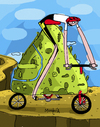 Cartoon: Mountain Bike (small) by Munguia tagged bike outdoors mountain bicycle sports