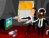 Cartoon: Nontendo (small) by Munguia tagged tarantino,pulp,fiction,nintendo,gun,duck,hunt,classic,movie,parodies