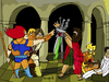 Cartoon: Oath of Swords (small) by Munguia tagged oath,of,the,horatii,louis,david,thundercats,he,man,luke,skywalker,jedi,star,wars,swords