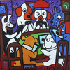Cartoon: Poker online (small) by Munguia tagged friend,in,need,cassius,marcellus,coolidge,famous,paintings,parodies,parody,dogs,poker,online,video,game
