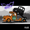 Cartoon: Pump Parody (small) by Munguia tagged pump,aerosmith,mater,mate,cars,rusty,toe,album,cover,parodies,parody