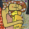 Cartoon: Puppy love (small) by Munguia tagged three ages of woman gustav klimt doggie love puppy