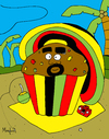 Cartoon: Ragga Muffin (small) by Munguia tagged ragga,muffin,cake,reggae,roots,moffin,jamaica