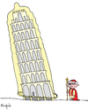 Cartoon: Safe Pisa (small) by Munguia tagged pope,condom,sex,safe,pisa,tower,italy,italia,ratzinger