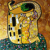 Cartoon: Selfie (small) by Munguia tagged kiss gustav klimt painting famous paintings parodies version