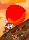 Cartoon: sisyphus Clown (small) by Munguia tagged clown,nose,red,sisyphus,sisifo,munguia