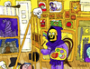 Cartoon: Skeletor Painter (small) by Munguia tagged the,skeleton,painter,james,ensor,masters,of,universe,he,man,horror,paintings,parodies,famous