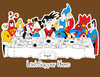 Cartoon: the Last supper Hero (small) by Munguia tagged last supper super hero batman superman goku dragon ball flash wonder woman men thunder cat spiderman wolverine he man green lentern