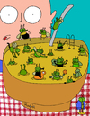 Cartoon: There s a public pool in my soup (small) by Munguia tagged soup,suppe,fly,mosca,tazon,bowl,gross,iaks