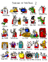 Cartoon: THOR AUDITION (small) by Munguia tagged spanish,english,thor,play,words,super,heroes,cartoon,comics,lenguaje,word