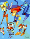 Cartoon: Thunder Cats (small) by Munguia tagged thunder,cats,comics,thundercats,munguia,costa,rica