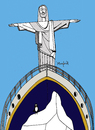 Cartoon: Titanic (small) by Munguia tagged brazil,titanic,sculpture,art,deco,statue,ice,ship,movie,parodie,jesus