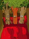 Cartoon: Treesome (small) by Munguia tagged threesome,trio,triplet,sex,tree