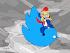 Cartoon: Twitter Bomb (small) by Munguia tagged donald,trump,twitter,bird,logo,red,hat,kubrick,droping,bomb,dr,strangelove,cowboy,stanley