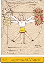 Cartoon: Vitruvios new cheerleader (small) by Munguia tagged vitruvious,da,vinci,leonardo,drawing,cheer,porrista,team,soccer,futbal