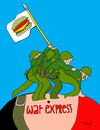 Cartoon: War Express (small) by Munguia tagged war,soldier,kill,killer,death,world,eua,usa,america