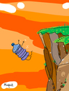 Cartoon: water falls (small) by Munguia tagged waterfalls,fall,bottle,water,wordplay,word,literal