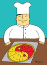 Cartoon: Yin Yang Pizza (small) by Munguia tagged pizzapitch,yin,yang,pizza,chef,oriental