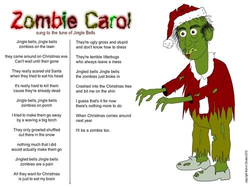 Zombie Christmas Carol By mdouble   Media & Culture Cartoon   TOONPOOL