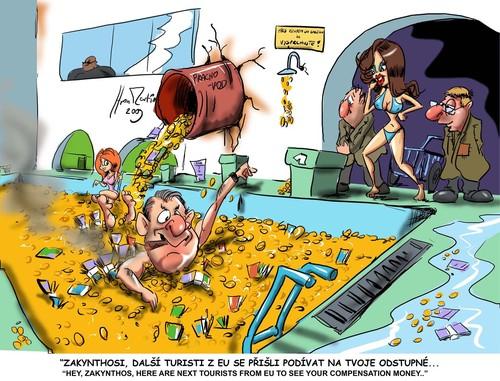 Greece By Martin Hron Business Cartoon Toonpool