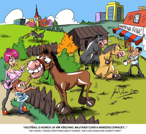 Cartoon: horse (medium) by Martin Hron tagged animal,joke