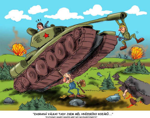 TANK By Martin Hron | Politics Cartoon | TOONPOOL