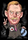 Cartoon: Havel (small) by Martin Hron tagged vaclav,havel