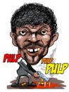 Cartoon: Pulp Fiction (small) by Martin Hron tagged jules