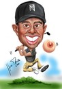Cartoon: tiger woods (small) by Martin Hron tagged tiger,woods