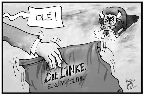 Cartoon: Europaparteitag Linke (medium) by Kostas Koufogiorgos tagged karikatur,koufogiorgos,illustration,cartoon,linke,partei,parteitag,europa,programm,karikatur,koufogiorgos,illustration,cartoon,linke,partei,parteitag,europa,programm