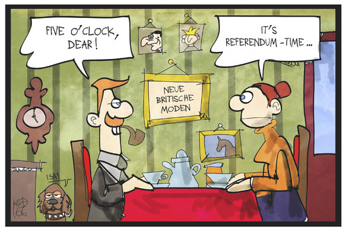 Cartoon: Five o clock referendum (medium) by Kostas Koufogiorgos tagged karikatur,koufogiorgos,illustration,cartoon,brexit,eu,europa,referendum,grossbritannien,tea,uk,time,englisch,queen,tradition,mode,demokratie,abstimmung,karikatur,koufogiorgos,illustration,cartoon,brexit,eu,europa,referendum,grossbritannien,tea,uk,time,englisch,queen,tradition,mode,demokratie,abstimmung