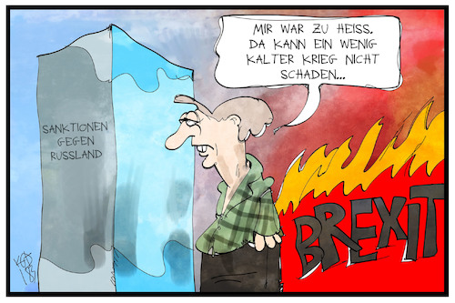 Cartoon: Kalter Krieg (medium) by Kostas Koufogiorgos tagged karikatur,koufogiorgos,illustration,cartoon,may,uk,brexit,kalter,krieg,russland,konflikt,diplomatie,heiss,kalt,eisblock,feuer,grossbritannien,karikatur,koufogiorgos,illustration,cartoon,may,uk,brexit,kalter,krieg,russland,konflikt,diplomatie,heiss,kalt,eisblock,feuer,grossbritannien