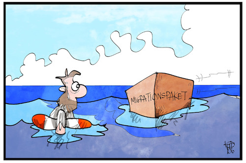 Cartoon: Migrationspaket (medium) by Kostas Koufogiorgos tagged karikatur,koufogiorgos,illustration,cartoon,migrationspaket,asylpolitik,mittelmeer,fluechtling,karikatur,koufogiorgos,illustration,cartoon,migrationspaket,asylpolitik,mittelmeer,fluechtling