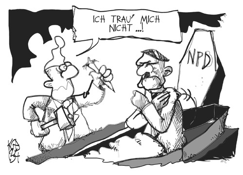 Cartoon: NPD-Verbot (medium) by Kostas Koufogiorgos tagged npd,verbot,partei,bundestag,neonazi,rechtsextremismus,karikatur,kostas,koufogiorgos,npd,verbot,partei,bundestag,neonazi,rechtsextremismus,karikatur,kostas,koufogiorgos