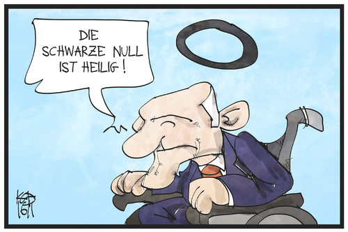 Cartoon: Schwarze Null (medium) by Kostas Koufogiorgos tagged karikatur,koufogiorgos,illustration,cartoon,schwarze,null,schäuble,finanzminister,heiligenschein,gloriole,haushalt,finanzen,politik,karikatur,koufogiorgos,illustration,cartoon,schwarze,null,schäuble,finanzminister,heiligenschein,gloriole,haushalt,finanzen,politik