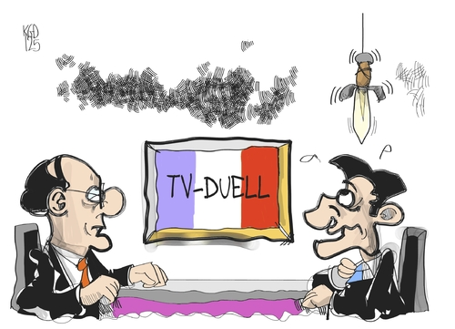 TV-Duell in Frankreich