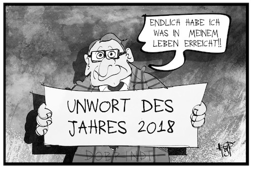 Cartoon: Unwort des Jahres (medium) by Kostas Koufogiorgos tagged karikatur,koufogiorgos,illustration,cartoon,unwort,dobrindt,csu,rechtspopulismus,sprache,karikatur,koufogiorgos,illustration,cartoon,unwort,dobrindt,csu,rechtspopulismus,sprache