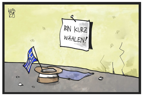 Cartoon: Wählen in Griechenland (medium) by Kostas Koufogiorgos tagged karikatur,koufogiorgos,illustration,cartoon,griechenland,wahl,arm,bettler,parlamentswahl,europa,demokratie,abstimmung,politik,karikatur,koufogiorgos,illustration,cartoon,griechenland,wahl,arm,bettler,parlamentswahl,europa,demokratie,abstimmung,politik